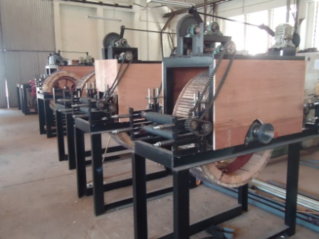 Coconut husk feeding machine manufactured for CDA